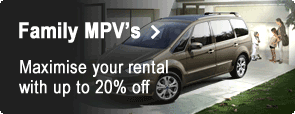 Family MPV's - Maximise your rental with up to 20% off